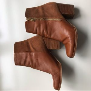 Michael by Michael Kors brown leather booties